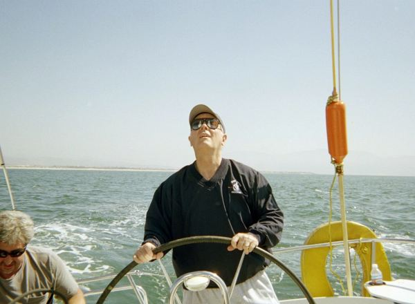 Mark at the Helm 2005